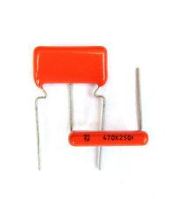 8 pcs Philips C368 470nF 0,47uF 250V 10% MKT capacitors