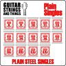 Ernie Ball Single Slinky Plain Steel Electric and Acoustic Guitar Strings