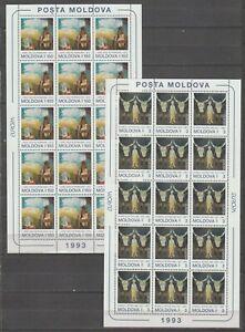 S37842 Moldova Europa Cept MNH 1993 MSx2