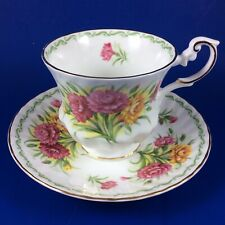 Queen's Rosina - Special Flowers - Carnation Bone China Tea Cup And Saucer