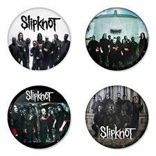 Slipknot - 4 chapas, pin, badge, button