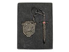 Dragon Slayer Sword& Shield Keychain (Silver)