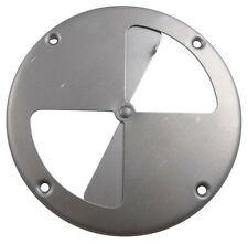 """(1) Butterfly Vent - 7-1/4"""" Round Polished Aluminum Vent Horse Stock Dog Trailer"""