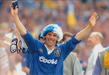 Gianfranco ZOLA SIGNED COA Autograph 12x8 Photo AFTAL RARE CHELSEA Football