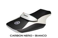 Rivestimento sella Carbon nero / bianco Yamaha T-Max 500 / 530 08> mod. Peppe
