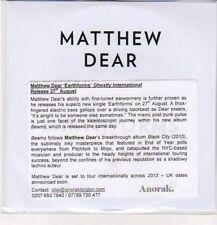 (DC497) Matthew Dear, Earthforms - DJ CD