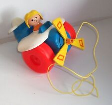 1980 Vintage Fisher Price - #171 PULL-ALONG PLANE -  Loose