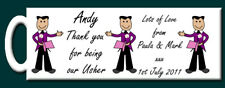 Personalised Thank you for being our Usher Mug - Gift