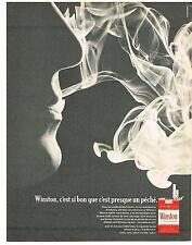 PUBLICITE ADVERTISING   1967    WINSTON  cigarettes