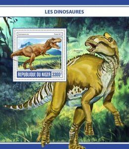 Niger - 2017 Dinosaurs on Stamps - Stamp Souvenir Sheet - NIG17316b