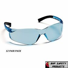 PYRAMEX ZTEK SAFETY GLASSES INFINITY BLUE LENS WORK EYEWEAR S2560S Z87+ (12 PR)