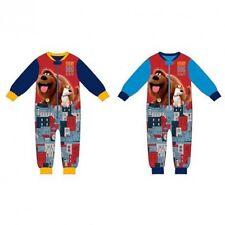 The Secret Life of Pets Boys Kids Sleep Suit Night Wear Pyjamas 2 3 4 5 6 Years 2 Yrs Sky Blue Sleeves& Navy Cuffs