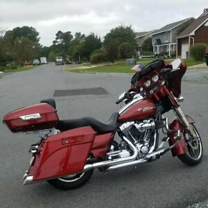 Red Hot Sunglo Stretched Saddlebags Bottoms for Harley Street Road Glide 93-13