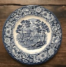 """Vtg Liberty Blue 6"""" Bread & Butter Plate Staffordshire Colonial Dinnerware"""