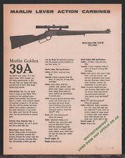 1980 MARLIN Golden 39M Lever-Action Carbine AD Collectible Gun Advertising