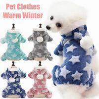 Pet Winter Star Clothes Warm Puppy Dog Cat Jumpsuit Pet Apparel Pajamas Coat ysx