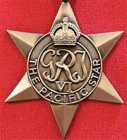 **WW2 THE PACIFIC STAR MEDAL RIBBON REPLICA MEDAL MOUNTING ANZAC KOKODA