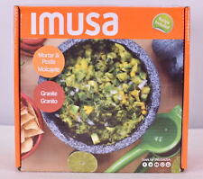 Imusa 8-Inch Granite Mexican MolcajeteMortar and Pestle Spice Grinder