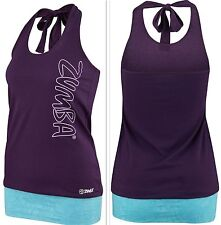 ZUMBA FITNESS DANCE! Bubble Halter Top Tee Shirt Tank -CUT iT Up...for Edgy Look