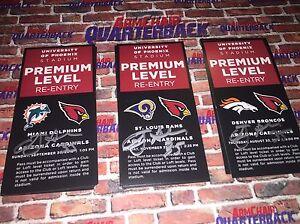 Anthony Sherman autographed Arizona Cardinals Premium Level Pass vs Rams