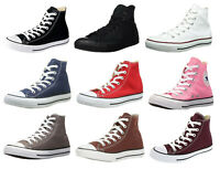 Converse Hi Tops Black, White, Navy, Red, Grey, Burgundy Sneakers Trainers Shoes
