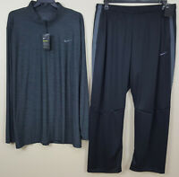 NIKE DRI-FIT BASKETBALL SUIT JACKET + PANTS GREY BLACK VERY RARE NEW (SIZE 4XLT)