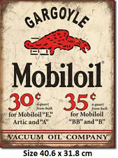 Mobiloil Gargoyle Mobil Rustic Tin Sign 1897 Licensed Not Chines Fake Made in US