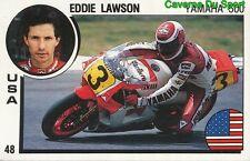 048 EDDIE LAWSON USA MOTO YAMAHA 500 STICKER SUPERSPORT 1988 PANINI RARE & NEW