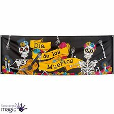 Halloween Large Mexican Day Of The Dead Party Sugar Skull Flag Banner Decoration