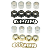 Skateboard Bearing Spacers +Washers +Nuts Speed Kit Longboard Repair Tools