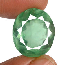 19 Cts Natural Untreated Green Fluorite Oval Faceted Cut Loose Gemstone