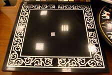 3' Black Marble Big room Dining Coffee corner Table top Inlay Mosaic Home Decor