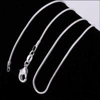 Fashion Frauen / Mädchen Silber Überzug Halskette Schlangenkette Halskette N5Q2
