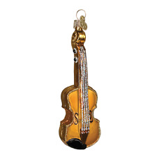 OLD WORLD CHRISTMAS GOLD VOILIN GLASS MUSICAL INSTRUMENT XMAS ORNAMENT 38008