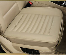 Beige Autositzbezug Universal Car Front Seat Cover PU leather Seat pad Cushion
