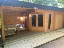 More details for log cabin / summer house with garden shed and veranda - 7,5 x 3,2 m used