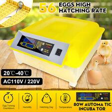 56 Egg Incubator Automatic Digital LED Turning Chicken Duck Poultry Bird AU Plug