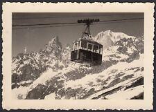 YZ0385 Funivia in transito al Passo Sella - Fotografia d'epoca - 1950 old photo