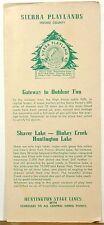 1940's early 50's Fresno County California High Sierras vintage brochure & map b