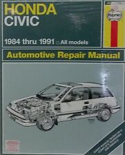 Honda Civic & CRX Workshop Repair Manual 1984-1991 with MPN HA42023
