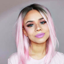 AISI HAIR Women Fashion Wig Synthetic Ombre Pink Bob Hair Short Straight Wigs
