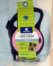 TOP PAW ~ RETRACTABLE TAPE LEASH ~ 10 FEET ~ SMALL  UP to 45 POUNDS~ PINK *NEW