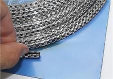 4 Metri Cromo Auto Nero Porta Bordo Guardia Protettore Stampaggio Trim Striscia di stampaggio