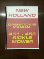 New Holland 451 - 456 Sickle Mower Operators Manual Owners Manual Maintenance