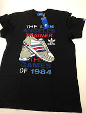 Adidas Originals gráfico la entrenador t-shirt, Negro Talla M-B-Ware