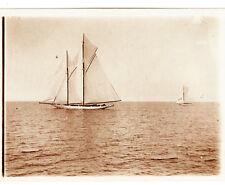Fotografie, s/w,Meteor IV Yacht des deutschen Kaisers, etwa 1910