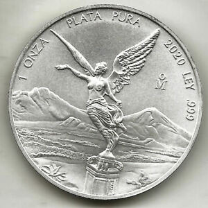 Mexico 1 OZ 2020 Silver Angel @Excellent@