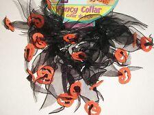 Rubies Pet Shop Black Orange Fancy Collar Scrunchie Pumpkins Small Med SM Medium