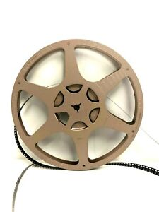 "Eastman Kodak Tan 7"" Metal Movie Film Reel 8mm Sturdy Kodascope Rare"