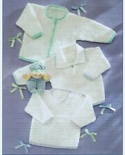 baby knitting pattern for  cardigan and sweaters prem 12 inch to 5 yrs dk